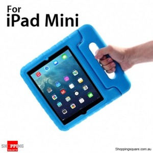 New Kids Shock Proof Thick Foam Cover Case Handle For ipad mini Blue Colour