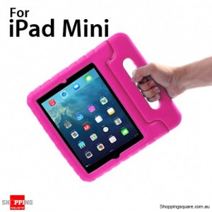 New Kids Shock Proof Thick Foam Cover Case Handle For ipad mini Pink Colour