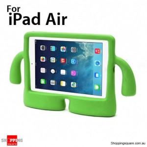 3D Cute Stand Cartoon Kids Shockproof EVA foam Cover Case For ipad air Green Colour