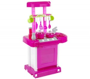 Kids Toy Kitchen Play Set with Lights & Sound