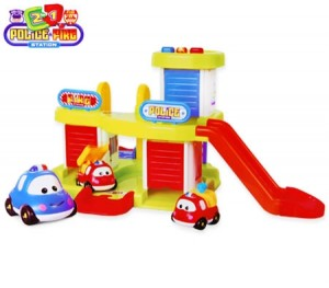 Kids Toy Police & Fire Station Play Set