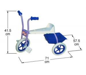 Kids Ride On Trike with Tray - Pink/Purple