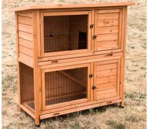 2-Storey Wooden Rabbit House
