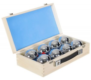 Deluxe Eight Ball Boule Set with Wooden Case