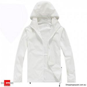 Waterproof Unisex uvioresistant Rain Coat White Colour Size 14