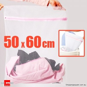 Cloth Mesh Net - Laundry Machine Washing Zipper, Large 50 X 60 CM Wash Bag