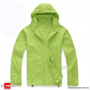 Waterproof Unisex uvioresistant Rain Coat Light Green Colour Size 14