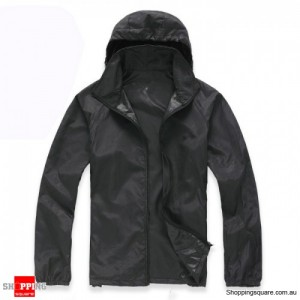 Waterproof Unisex uvioresistant Rain Coat Black Colour Size 14