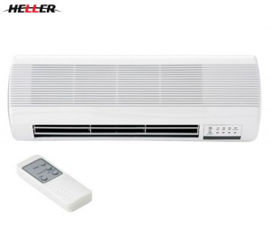Heller Ceramic 2000W Wall Heater with Remote Control