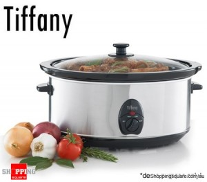 Tiffany 6.5 Litre Electric Stainless Steel Slow Cooker