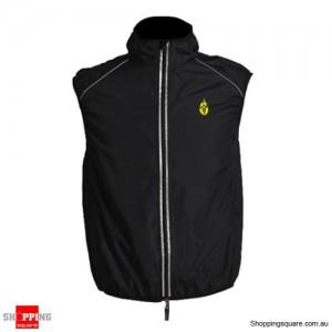 Men or Women Fashion Tour de France Cycling jacket Wind Waistcoat Black Colour Size 12