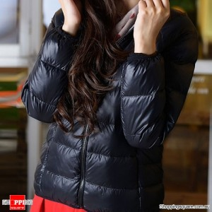 Down Jacket Hooded Women Size 14 Black Colour