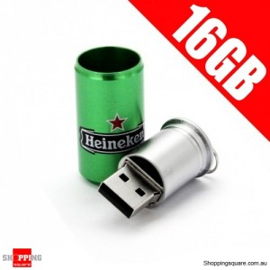 New Heineken Can Model 16GB USB Memory Stick Flash Pen Drive