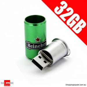 New Heineken Can Model 32GB USB Memory Stick Flash Pen Drive