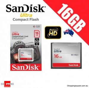 SanDisk Ultra Compact Flash 16GB Memory Card 50MB/s for DSLR Digital Camera