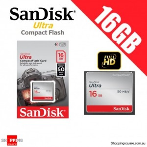 SanDisk Ultra 16GB Compact Flash  Memory Card 50MB/s for DSLR Digital Camera