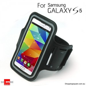 Sports Armband Case for Samsung galaxy S5 G900 Black Colour