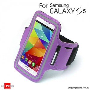 Sports Armband Case for Samsung galaxy S5 G900 Purple Colour