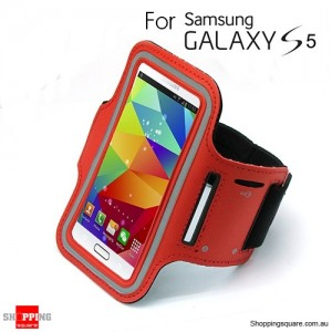 Sports Armband Case for Samsung galaxy S5 G900 Red Colour