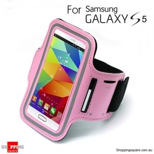 Sports Armband Case for Samsung galaxy S5 G900 Pink Colour