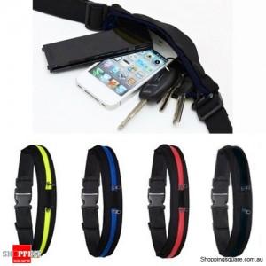 2 in 1 Unisex Sports Jogging Running Cycling Waterproof Waist Belt Pack Bag Black Colour