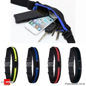 2 in 1 Unisex Sports Jogging Running Cycling Waterproof Waist Belt Pack Bag Blue Colour