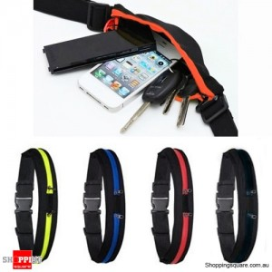 2 in 1 Unisex Sports Jogging Running Cycling Waterproof Waist Belt Pack Bag Red Colour