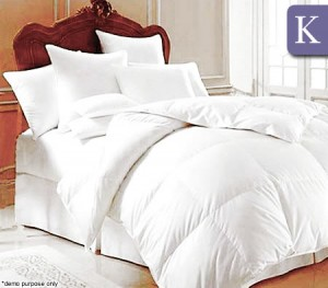 Goose Feather Quilt / Topper King Size - White