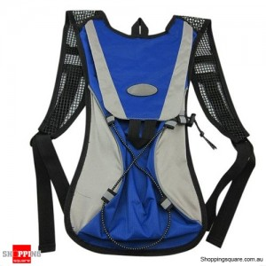Outdoor Cycling Running Hiking Camping Hydration Backpack Water Bag Blue Colour