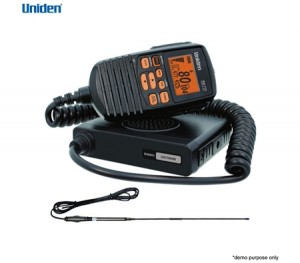 Uniden Compact UHF 80 Channel CB Mobile w/Antenna & Remote Speaker Mic