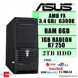 ASUS Haswell Core Gaming PC / I7 4770 3.4Ghz 8GB RAM 2TB HDD ATI R9 270OC USB3.0 WIN8 / Intel 4th Generation