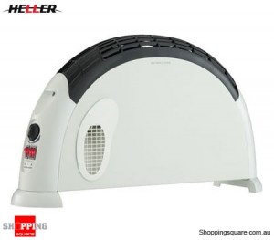 Heller 2000W Convection Heater with Turbo Fan - White & Grey