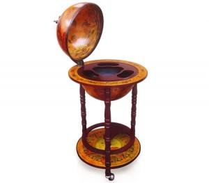 Antique Globe Bar Cabinet /Drink Trolley