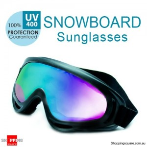 Sports Ski Snowboard Skate UV400 Sunglasses Goggle Black Colour - Adult Unisex