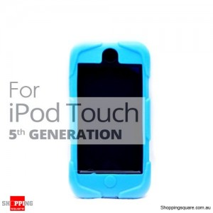 Tough Protective Heavy Duty Case for Apple iPod Touch 5 5th Blue Colour