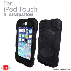 Tough Protective Heavy Duty Case for Apple iPod Touch 5 5th Black Colour