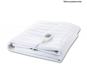 Fitted Heated Electric Blanket with Dual Control-Queen Size