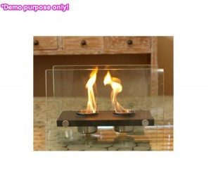 Home Expression Eco Friendly Rectangle Fireplace - 2 Pots