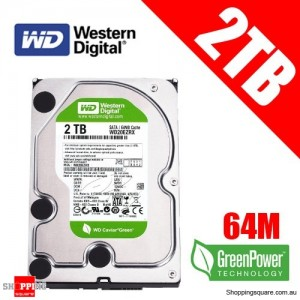 Western Digital 2TB 64M WD20EZRX Interllipower SATA 3 Caviar Green