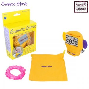 Gummee Glove Award Winning Baby Teething Toy - Pink