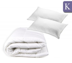 King Bed Luxury Microfibre 270GSM Quilt & 650GSM Pillow Pack
