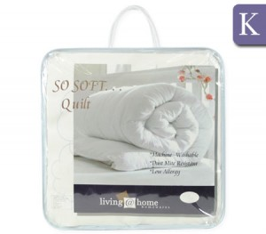 Living At Home 350gsm So Soft Microfibre Quilt - King