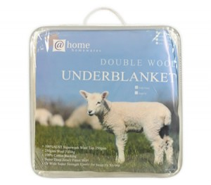 Living at Home Fully Fitted Australian Double Wool Underblanket - Single