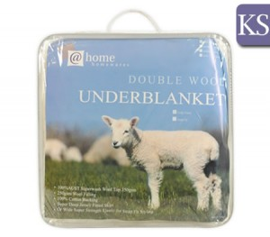 Living at Home Fully Fitted Australian Double Wool Underblanket - King Single