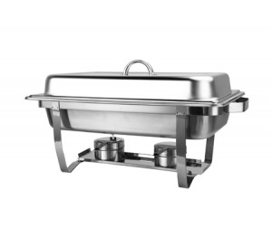 Bain Marie Bow Chafing Dishes 2x4.5L Stainless Steel Buffet Warmer Stackable Set
