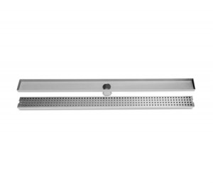 900mm Bathroom Shower Square Pattern Grate Drain w/Centre Outlet