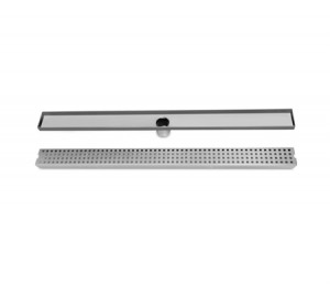 800mm Bathroom Shower Square Pattern Grate Drain w/Centre Outlet