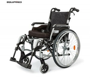 "eQuipMed Folding Wheelchair Deluxe Series 24"" Tyres"