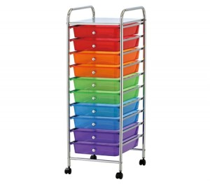 Drawer Multi Colour Storage Trolley