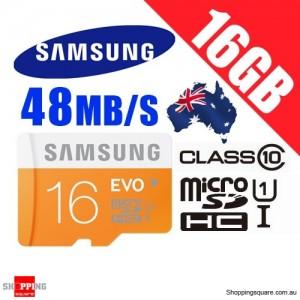 Samsung 16GB EVO UHS-I Micro SDHC Memory Card Grade 1 Class 10 48MB/s